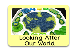 Looking After Our World Themed Tuff Trays for Toddlers-EYFS Children - Learning Through Play Sessions