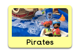 Pirates and Princesses Themed Tuff Trays for Toddlers-EYFS Children - Learning Through Play Sessions