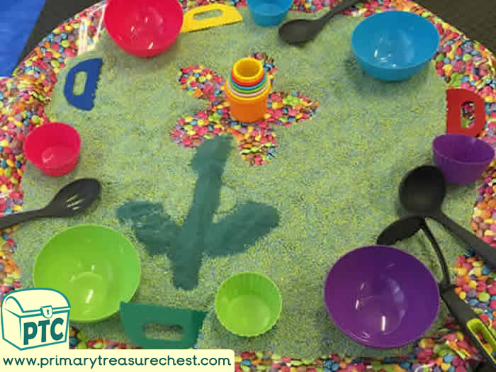 Forest Themed Tuff Tray for Toddlers-EYFS Children