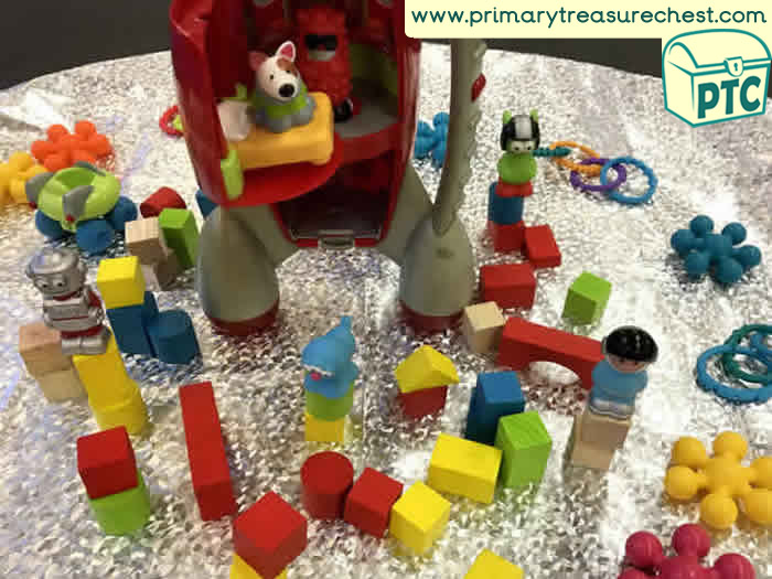 Space Themed Construction Area Ideas Tuff Tray Activities Happy