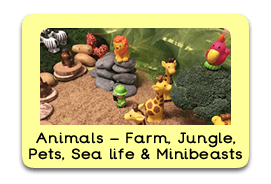 Amazing Animals Themed Tuff Trays for Toddlers-EYFS Children - Learning Through Play Sessions