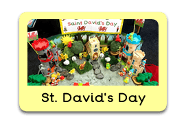 Saint Davids Day Themed Tuff Trays for Toddlers-EYFS Children - Learning Through Play Sessions