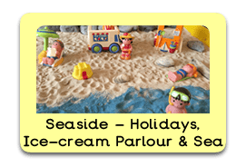 Super Seaside Themed Tuff Trays for Toddlers-EYFS Children - Learning Through Play Sessions