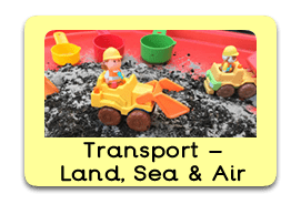 Terrific Transport Themed Tuff Trays for Toddlers-EYFS Children - Learning Through Play Sessions