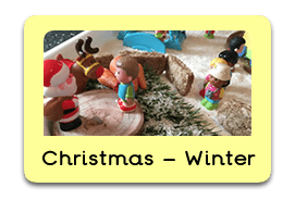 Winter Wonderland Themed Tuff Trays for Toddlers-EYFS Children - Learning Through Play Sessions