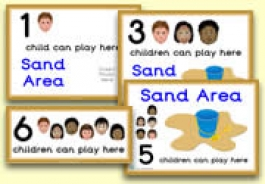 How Many Children... Sand Area Signs