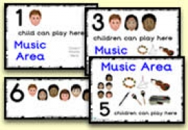 How Many Children... Music Area Signs