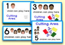 How Many Children... Cutting Area Signs