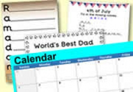 Summer Topics & Celebrations with CALENDAR DATES