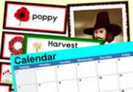 Autumn Topics & Celebrations with CALENDAR DATES