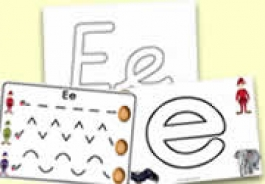 'e' Themed Activities