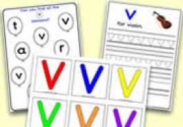 'v' Themed Activities