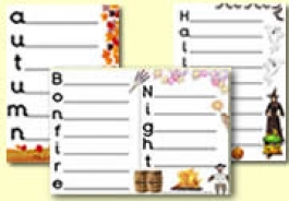 Acrostic Poem Sheets