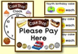 Cake Shop Role Play Resources