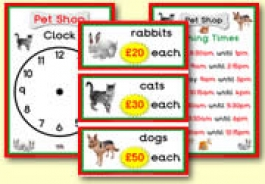 Pet Shop Role Play Resources