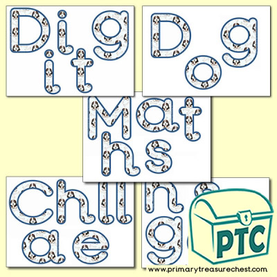'Digit Dog Maths Challenges' Display Letters