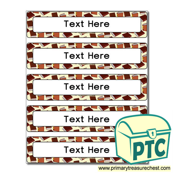 Reading Themed Drawer Labels (Small)