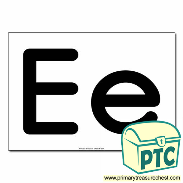 'Ee' Upper and Lowercase Letters A4 poster (No Images)