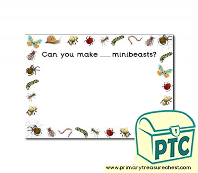 Minibeasts Themed Number Playdough Mats