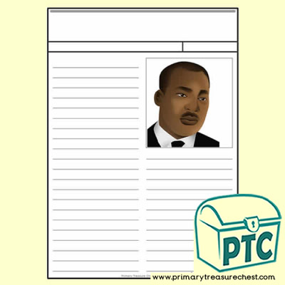Martin Luther King Jr Newspaper Worksheet