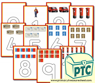 Postman Themed Playdough Mats 0-10