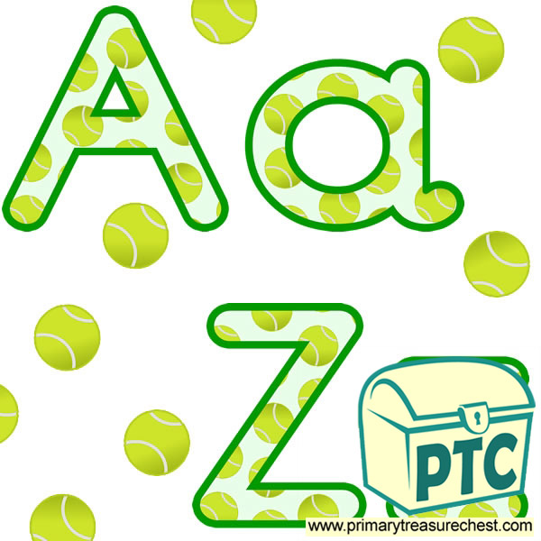 Tennis Ball  themed Display Lettering