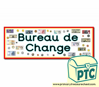 Exchange de Bureau Display Heading / Classroom Banner