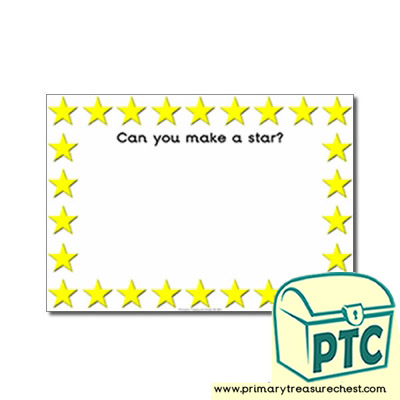 Stars Themed Topic Playdough Mat