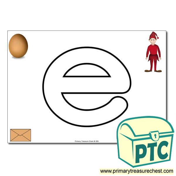 'e' Lowercase Bubble Letter A4 Poster containing high quality and realistic images