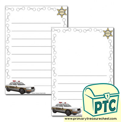 Sheriff Themed Page Border/Writing Frame (wide lines)