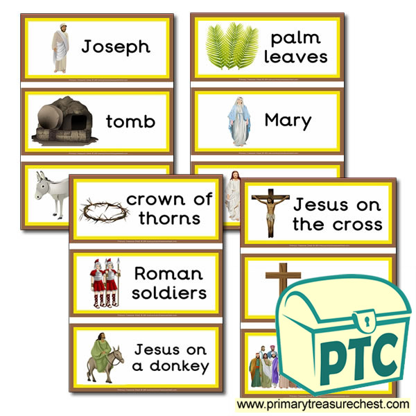 Easter Story Themed Flashcards