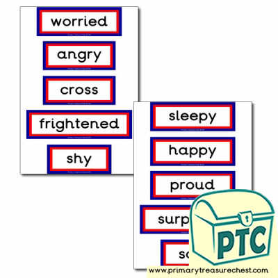 Feelings themed display words