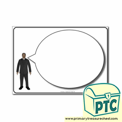 Martin Luther King Jr Themed Speech Bubble Worksheet