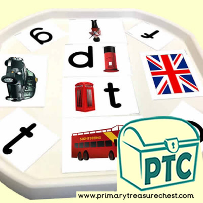 London Phonic Letter Sound Themed Matching Sounds with Pictures