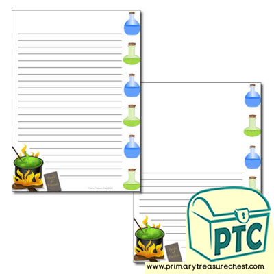 Magic potion Page Border /Writing Frame (narrow lines)