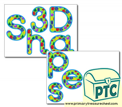 Display Letters '3D Shapes'