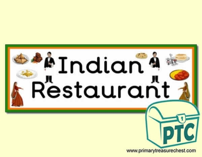 'Indian Restaurant' Display Heading/ Classroom Banner