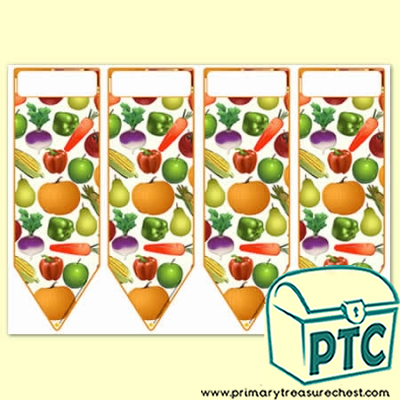 Fruit & Vegetables Themed Bookmarks