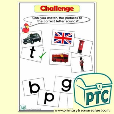 London Phonic Letter Sound Challenge Matching Sounds with Pictures