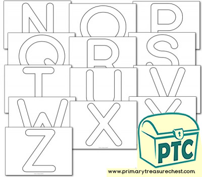 Alphabet Playdough Mats - Upper Case (N-Z)
