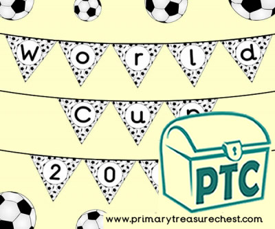 Football Wolrd Cup 2018 Bunting