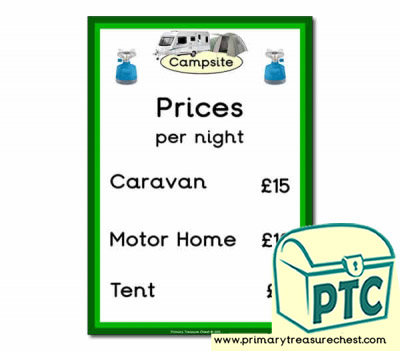 Role Play Campsite Prices