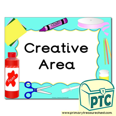 Creative area Classroom sign