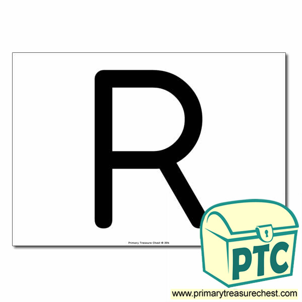 'R' Uppercase Letter A4 poster  (No Images)