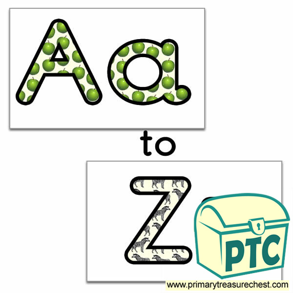 Alphabet (Phonic Sounds)  themed Display Lettering