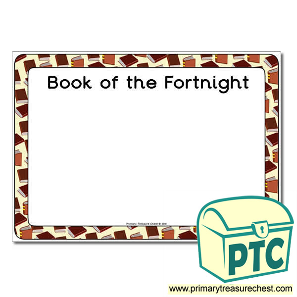 Book of the Fortnight Poster