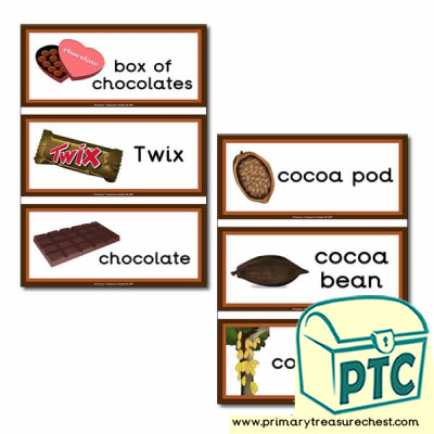 Chocolate Themed Flashcards