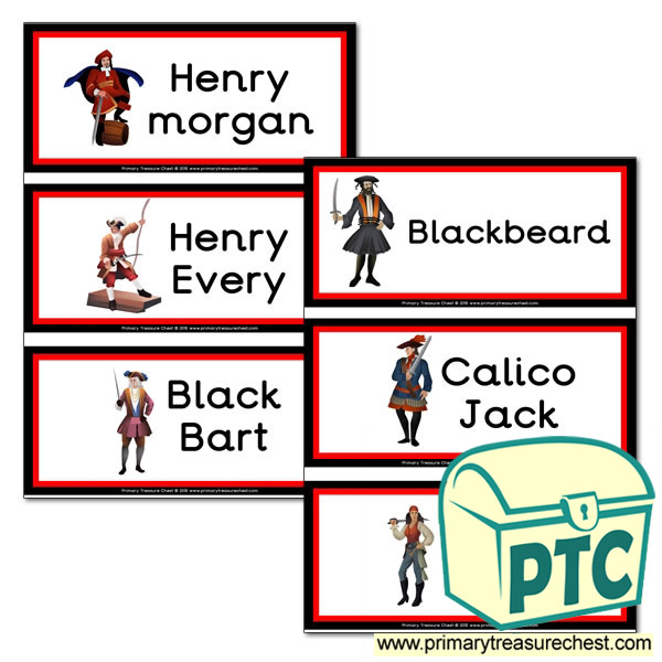 Famous Pirate hemed Flashcards