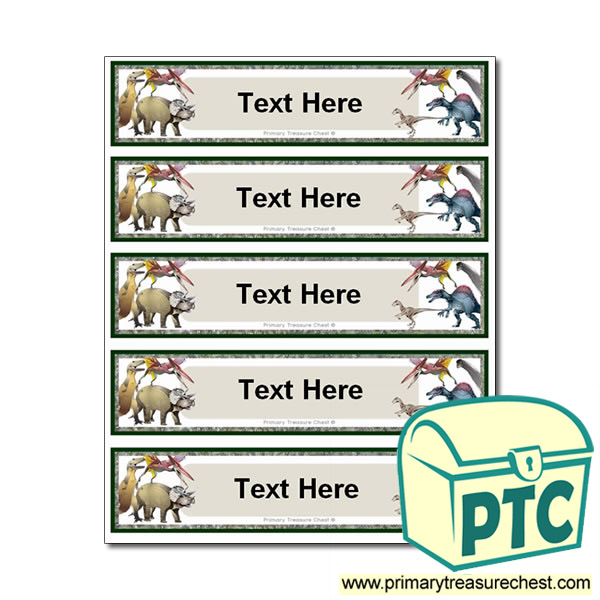 Free Dinosaur Themed Pupil Drawer Labels (Small)