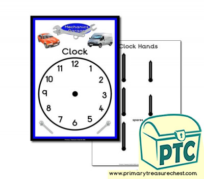 Mechanics Garage Role Play Clock